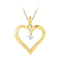 10K Yellow-gold 0.04CTW DIAMOND FASHION PENDANT