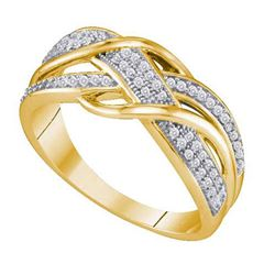 10K Yellow-gold 0.20CT DIAMOND MICRO PAVE BAND
