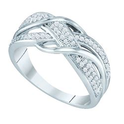 10KT White Gold 0.20CTW DIAMOND MICRO PAVE BAND