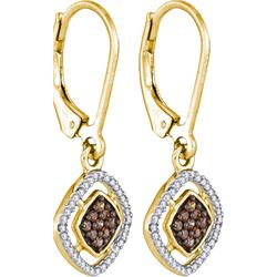10K Yellow-gold 0.33CTW DIAMOND MICRO PAVE EARRING