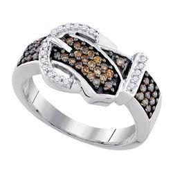 10K White-gold 0.50CTW DIAMOND COGNAC RING
