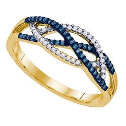 10K Yellow-gold 0.20CT DIAMOND MICRO PAVE RING