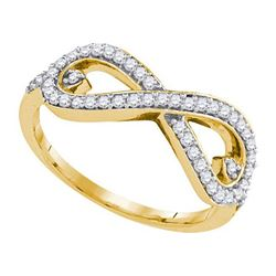 10K Yellow-gold 0.35CTW DIAMOND FASHION RING