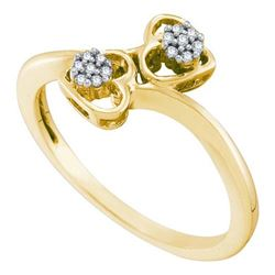 10K Yellow-gold 0.05CT DIAMOND HEART RING