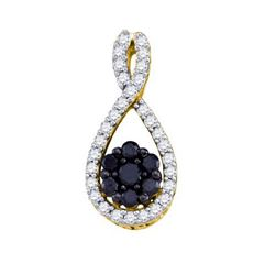 10KT Yellow Gold 0.41CTW DIAMOND LADIES FASHION PENDANT