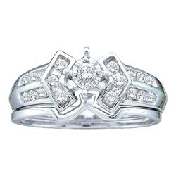 14KT White Gold 0.25CTW DIAMOND LADIES BRIDAL RING WITH