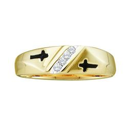 10KT Yellow Gold 0.05CTW DIAMOND MENS FASHION RING