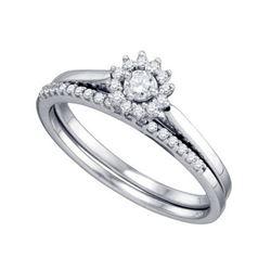10KT White Gold 0.24CT DIAMOND 0.09CT CENTER ROUND BRID