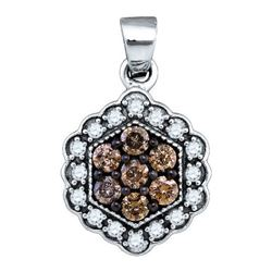 10K Yellow-gold 0.45CTW DIAMOND FASHION PENDANT