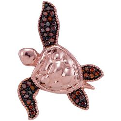 10KT Rose Gold 0.10CTW DIAMOND BUG PENDANT