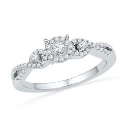 10KT White Gold 0.25CTW DIAMODN FASHION RING