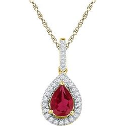 10K Yellow-gold 0.12CTW-Diamond 1.7CT-LRU PENDANT