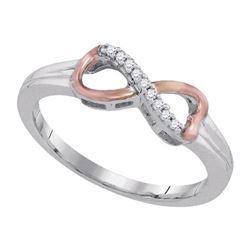 925 Sterling Silver White 0.05CTW DIAMOND FASHION RING