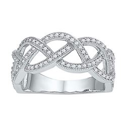 10KT White Gold 0.50CTW-Diamond FASHION RING