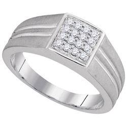 10KT White Gold 0.25CTW DIAMOND MENS FASHION RING