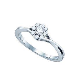 14K White-gold 0.28CT DIAMOND BRIDAL RING