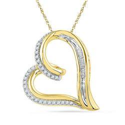 10K Yellow-gold 0.16CTW DIAMOND FASHION PENDANT