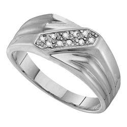 925 Sterling Silver White 0.10CTW DIAMOND FASHION MENS