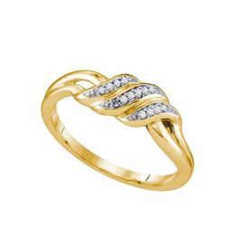 10KT Yellow Gold 0.04CTW DIAMOND MICRO PAVE BAND