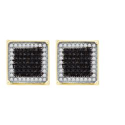 10K Yellow-gold 0.95CTW DIAMOND MICRO PAVE EARRING