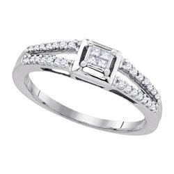 925 Sterling Silver White 0.20CT DIAMOND FASHION RING
