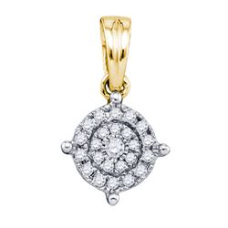 10K Yellow-gold 0.15CT DIAMOND MICRO-PAVE PENDANT