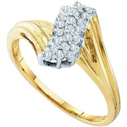 10KT Yellow Gold 0.15CTW DIAMOND LADIES CLUSTER RING