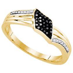 925 Sterling Silver Yellow 0.10CTW DIAMOND FASHION RING