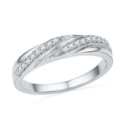 10KT White Gold 0.10CTW DIAMOND FASHION BAND