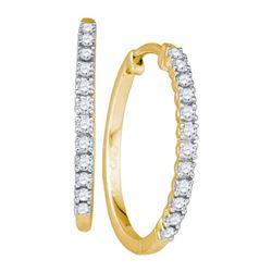 10K Yellow-gold 0.23CT DIAMOND LADIES MICRO-PAVE EARRIN