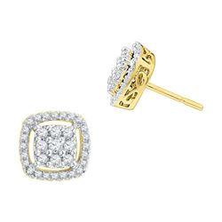 10K Yellow-gold 0.50CTW DIAMOND FASHION EARRINGS