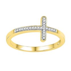 10K Yellow-gold 0.06CTW-Diamond FASHION RING