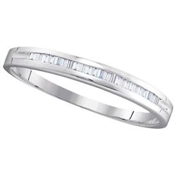 10KT White Gold 0.15CTW DIAMOND FASHION BAND