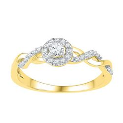 10K Yellow-gold 0.20CTW-Diamond BRIDAL RING