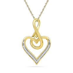 10K Yellow-gold 0.07CTW DIAMOND FASHION PENDANT