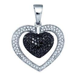 10KT White Gold 1.00CT DIAMOND HEART PENDANT