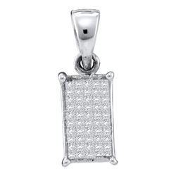 14KT White Gold 0.25CT DIAMOND INVISIBLE PENDANT