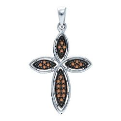 925 Sterling Silver White 0.25CTW DIAMOND FASHION PENDA