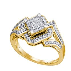 10K Yellow-gold 0.35CT DIAMOND MICRO-PAVE RING