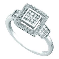 10KT White Gold 0.33CTW DIAMOND INVISIBLE RING
