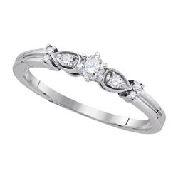 925 Sterling Silver White 0.15CT DIAMOND FASHION RING