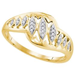 10K Yellow-gold 0.06CTW DIAMOND FASHION RING