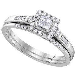 10KT White Gold 0.25CTW DIAMOND INVISIBLE BRIDAL SET