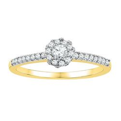 10K Yellow-gold 0.33CTW-Diamond BRIDAL RING