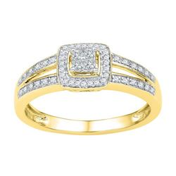 10K Yellow-gold 0.20CTW DIAMOND FASHION RING