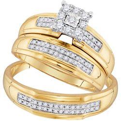 10K Yellow-gold 0.34CTW DIAMOND FASHION TRIO-SET