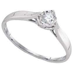 10KT White Gold 0.08CTW DIAMOND FASHOIN RING