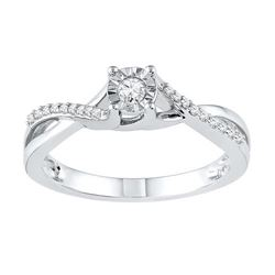 10KT White Gold 0.16CTW DIAMOND FASHION RING