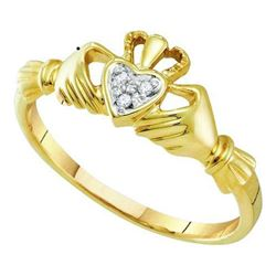 10KT Yellow Gold 0.02CTW DIAMOND LADIES HEART RING