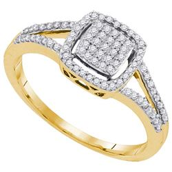 10K Yellow-gold 0.25CTW DIAMOND MIRO-PAVE RING